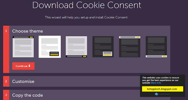 Menerapkan Notice Google di Blogger Menggunakan Cookies Consent