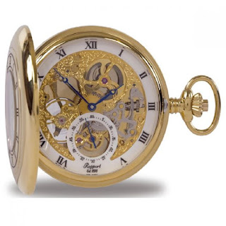 stunning gold and white vintage style pocket watch for men