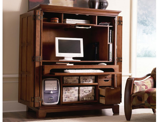 best buying office furniture Armoire desk for sale online