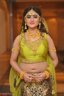 Sony Charishta in Green Choli Ghagra Transparent Chunni Ethnic Wear March 2017 053.JPG