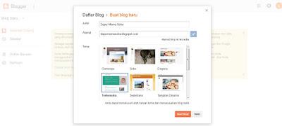 Cara Membuat Blog di Blogger.com dengan Mudah Untuk Pemula (Panduan Part 1)
