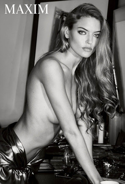 Martha Hunt by Gilles Bensimon for Maxim - December 2017