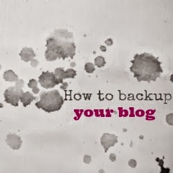 how to backup your blog