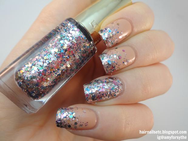 Hair Nails Uk Nail & Beauty Rainbow Glitter Gradient Art With L'oreal Polishes