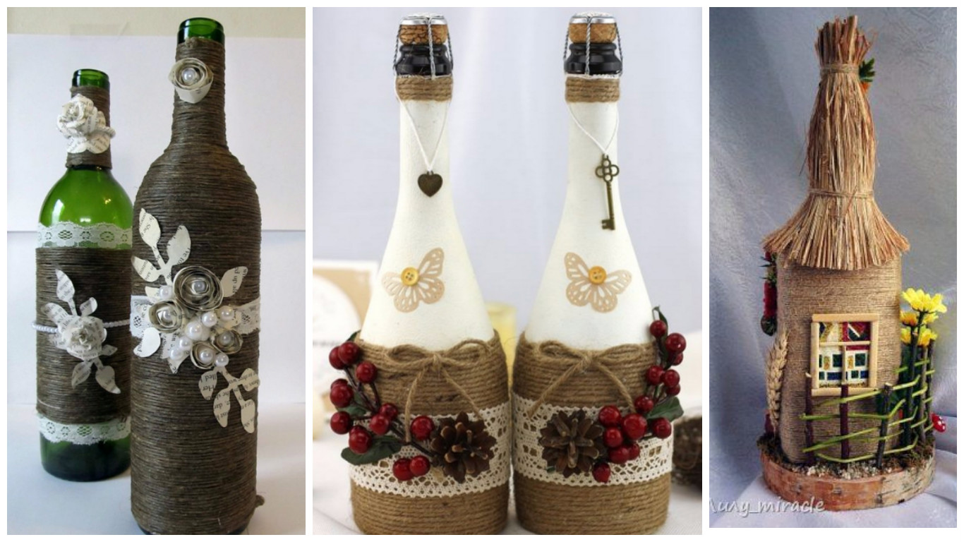Comprar Botellas Decoradas 13 Ideas Hermosas Para Decorar Botellas Con Cordón De