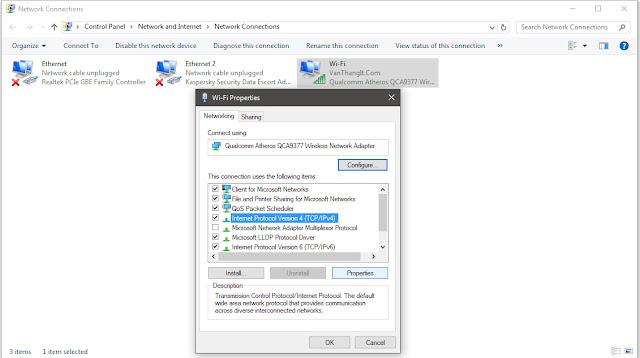 Thêm DNS tăng tốc độ mạng trên windows 10