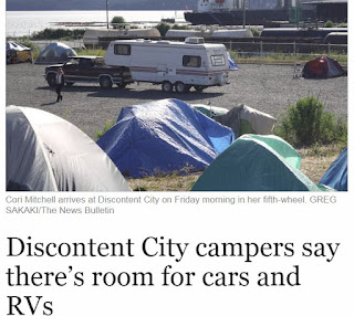 Nanaimo Bulletin Tent city