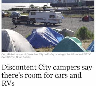 Nanaimo Bulletin Tent city