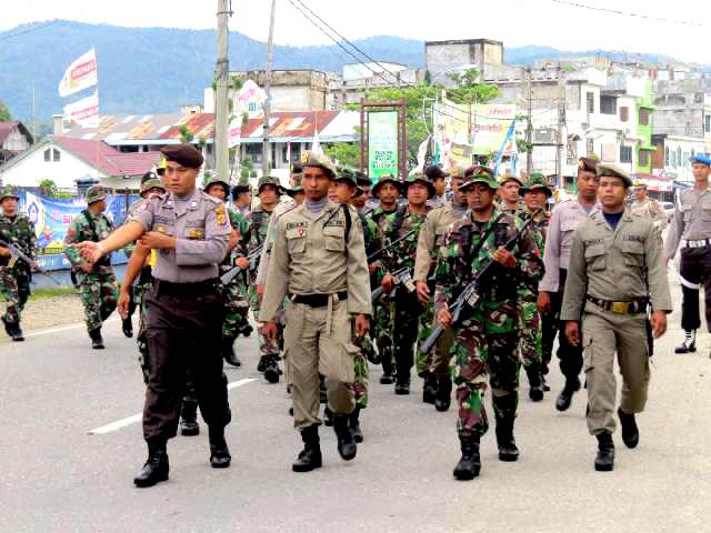 TNI, Polri dan Satpol PP di Abdya Jalin Kekompakan