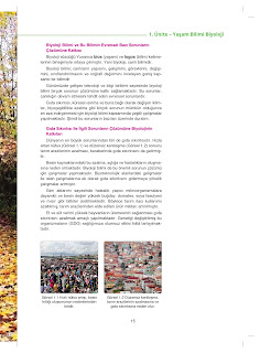 9. Sınıf Biyoloji Ders Kitabı Cevapları Netbil Yayınları Sayfa 15