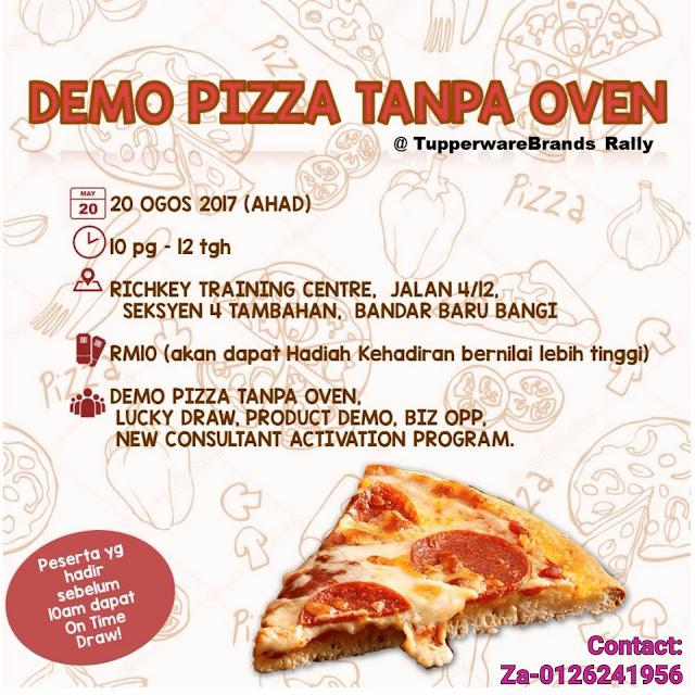 Tupperware Demo Pizza Tanpa Oven!