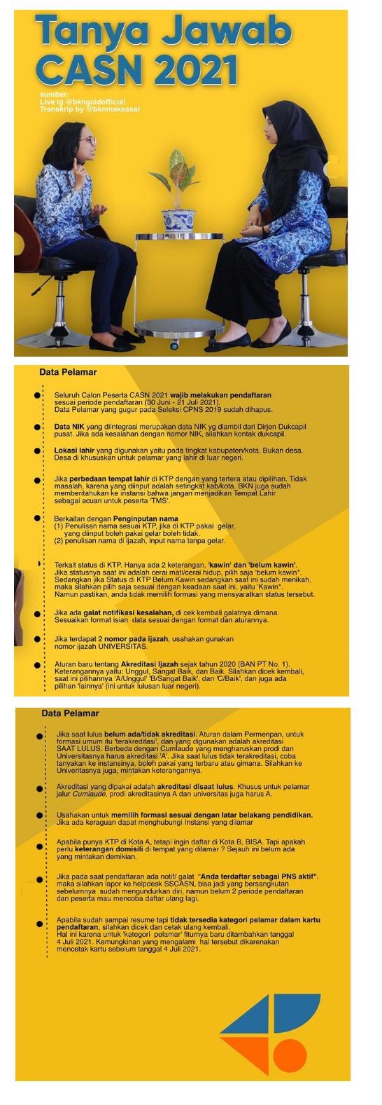 Solusi Kesalahan Isi Data dan Dokumen Pelamar CPNS di portal SSCASN