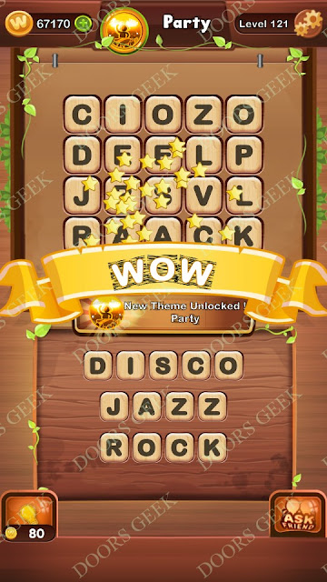 Word Bright Level 121 Answers, Cheats, Solutions, Walkthrough for android, iphone, ipad and ipod