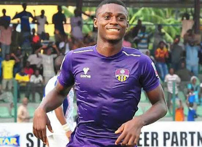 Hat-trick: Odey is the centre of attention