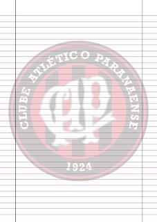 Papel Pautado do Atletico Paranaense PDF para imprimir na folha A4