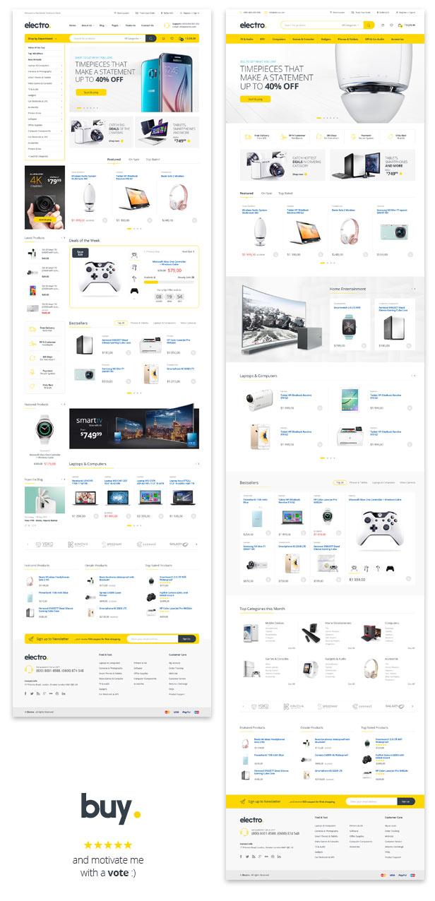 Electro - Electronics eCommerce PSD by bcube | ThemeForest