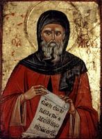 Sfantul Antonie cel Mare, icoana pe lemn