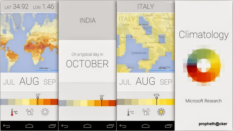 Microsoft try Something new in Officially Climate-Weather Android App