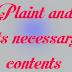 Plaint and its necessary contents