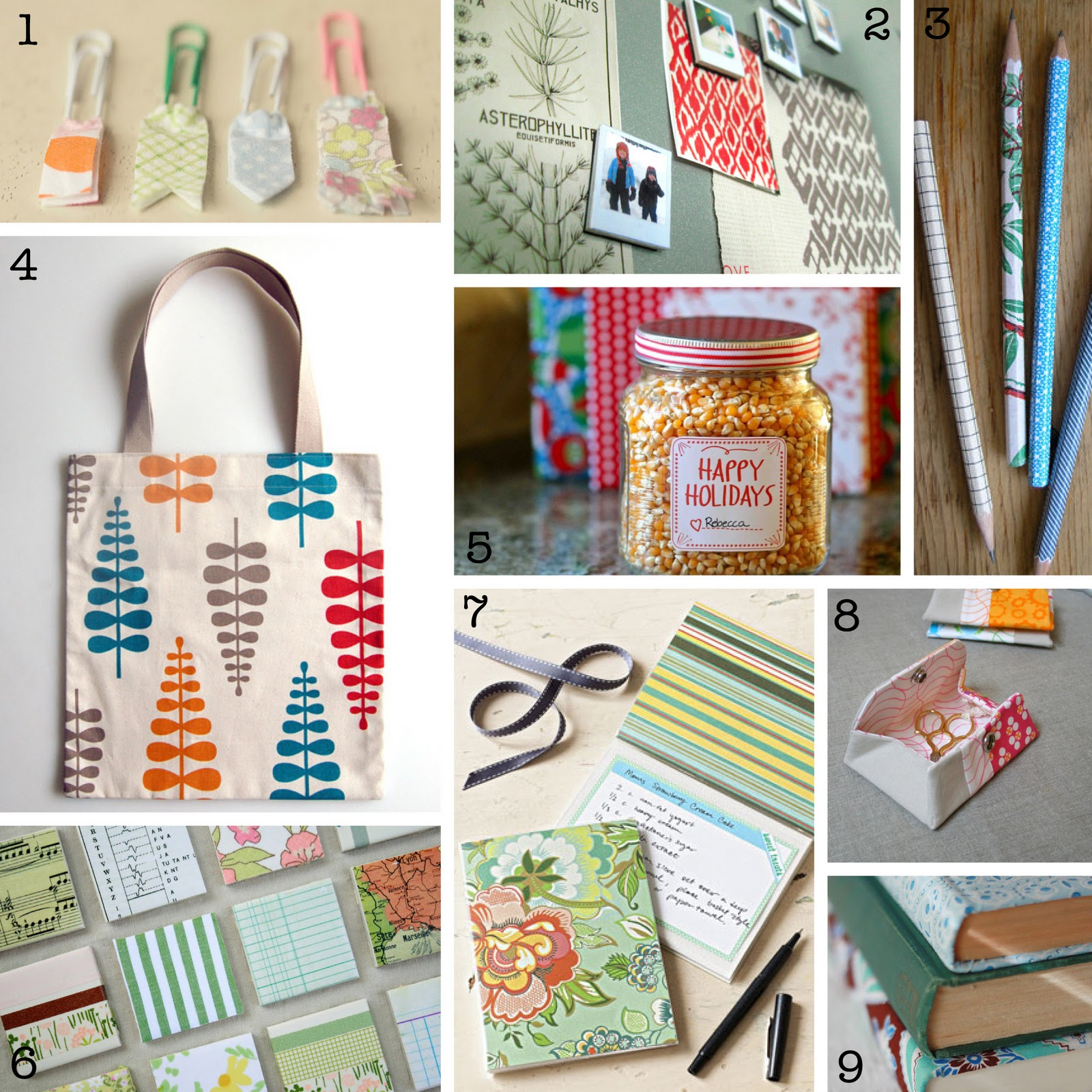 Life Through The Lens Paperclip Fabric Bookmarks