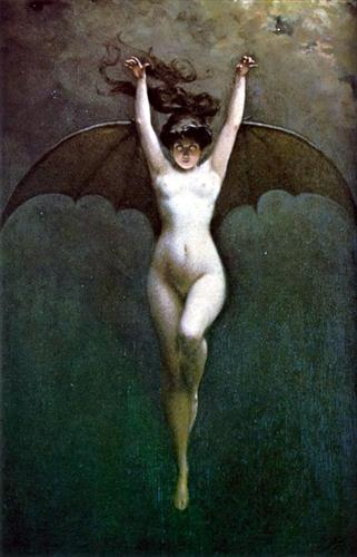 Bat Woman - Albert Joseph Pénot, horror art