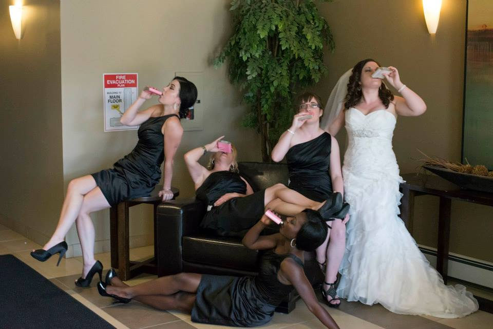 tipsy bridesmaid photo idea