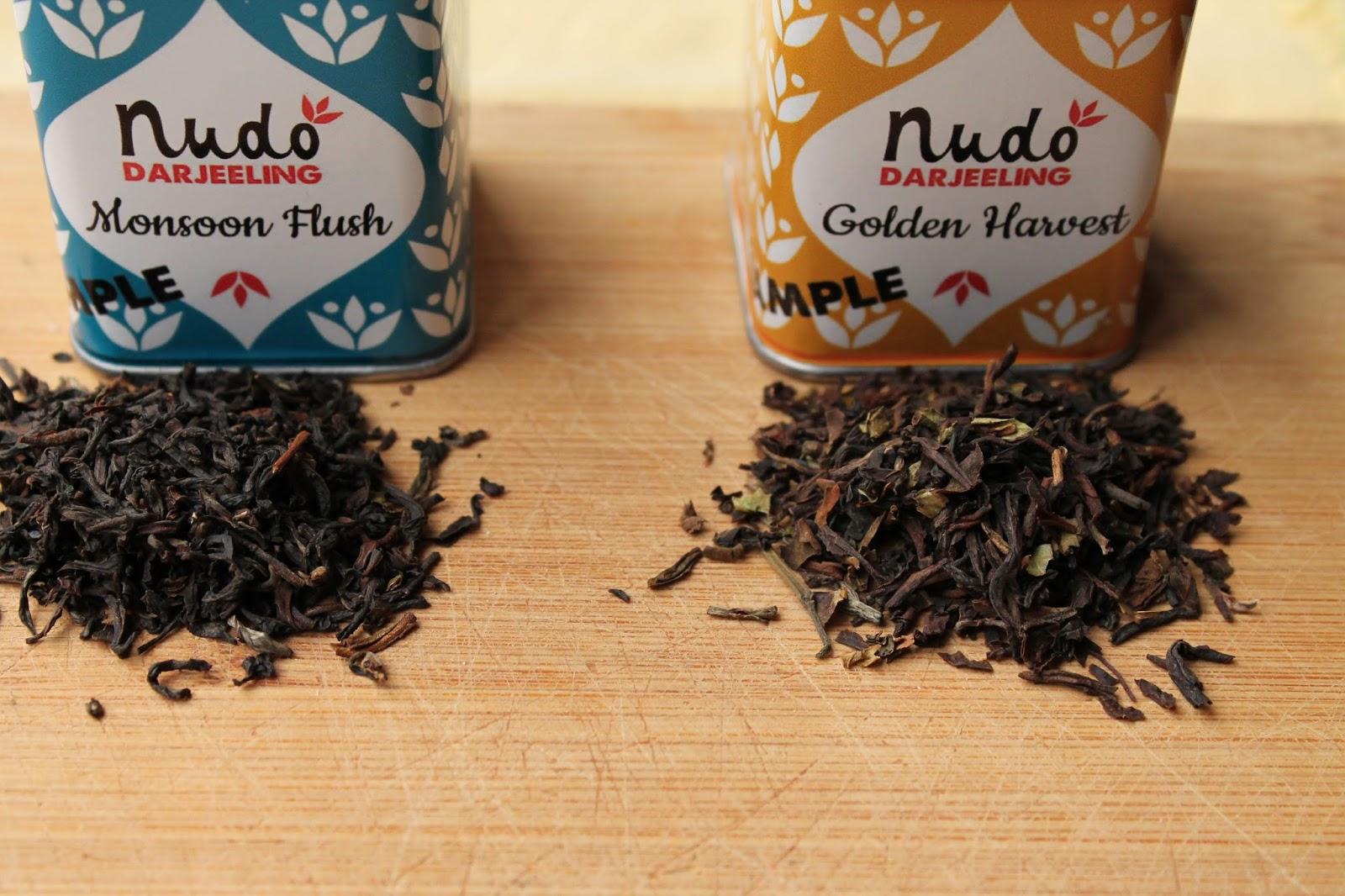 Tea Review: Nudo Darjeeling Monsoon and Golden Harvest
