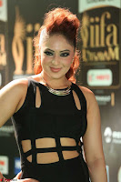 Nikesha Patel in Beautiful Figure Hugging Black Dress  at IIFA Utsavam Awards 2017  Day 2 at  19.JPG