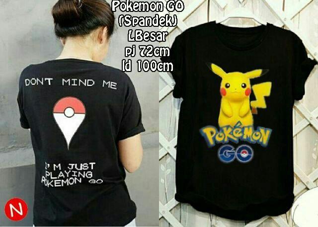 Jual Kaos Lengan Pendek Kaos Pokemon Go - 12782