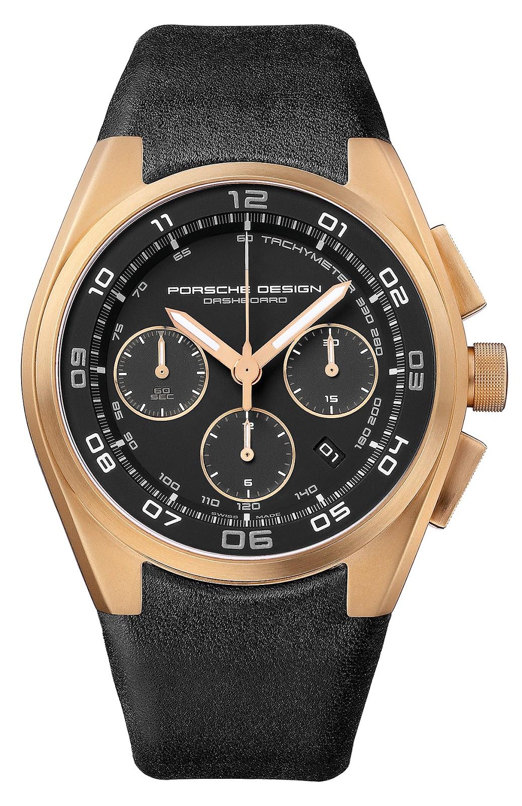 03cbf9f580f Chegado(s) ao mercado - relógio Porsche Design P 6620 Dashboard ouro rosa