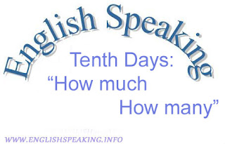 Tenth Days: how much how many exercises