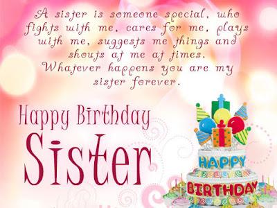 Bildergebnis für Birthday Wishes Sister Messages