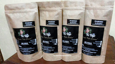 Kopi Lanang (peaberry) produk Kopi Ki Oyo, Ciamis.