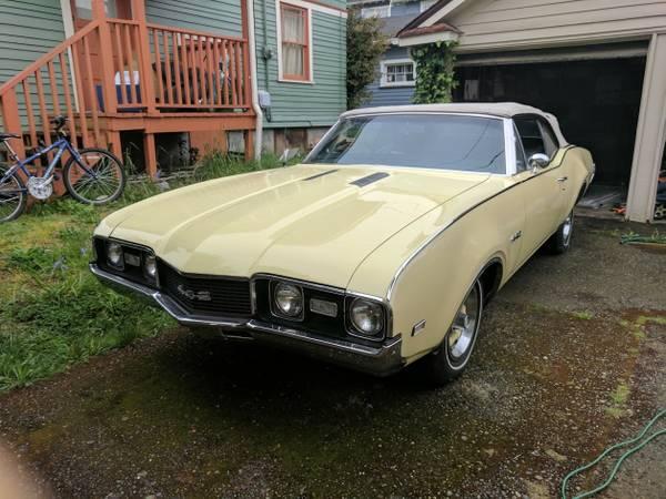 Rare Muscle Car, 1968 442 Oldsmobile Convertible