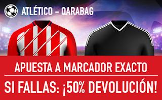 sportium promocion champions Atlético vs Qarabag 31 octubre