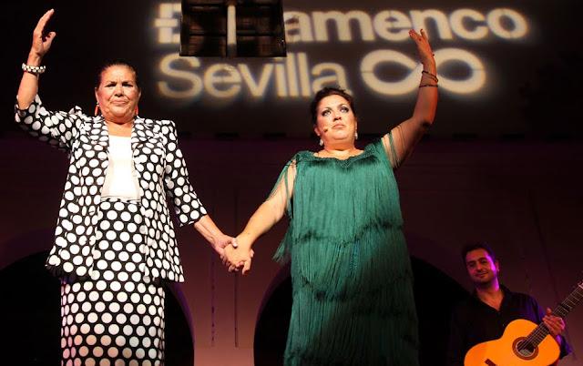 Bienal de arte flamenco ciudad de Sevilla.  Antonia La Negra, Carmen Montoya, Carmelilla, Juan Montolya, El Morito, Lole y Manuel, Raimundo Amador, Niño Jero