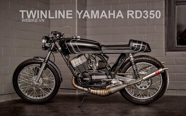 Yamhaha RD350 độ Cafe Racer với pô kiểu...xe 2 thì