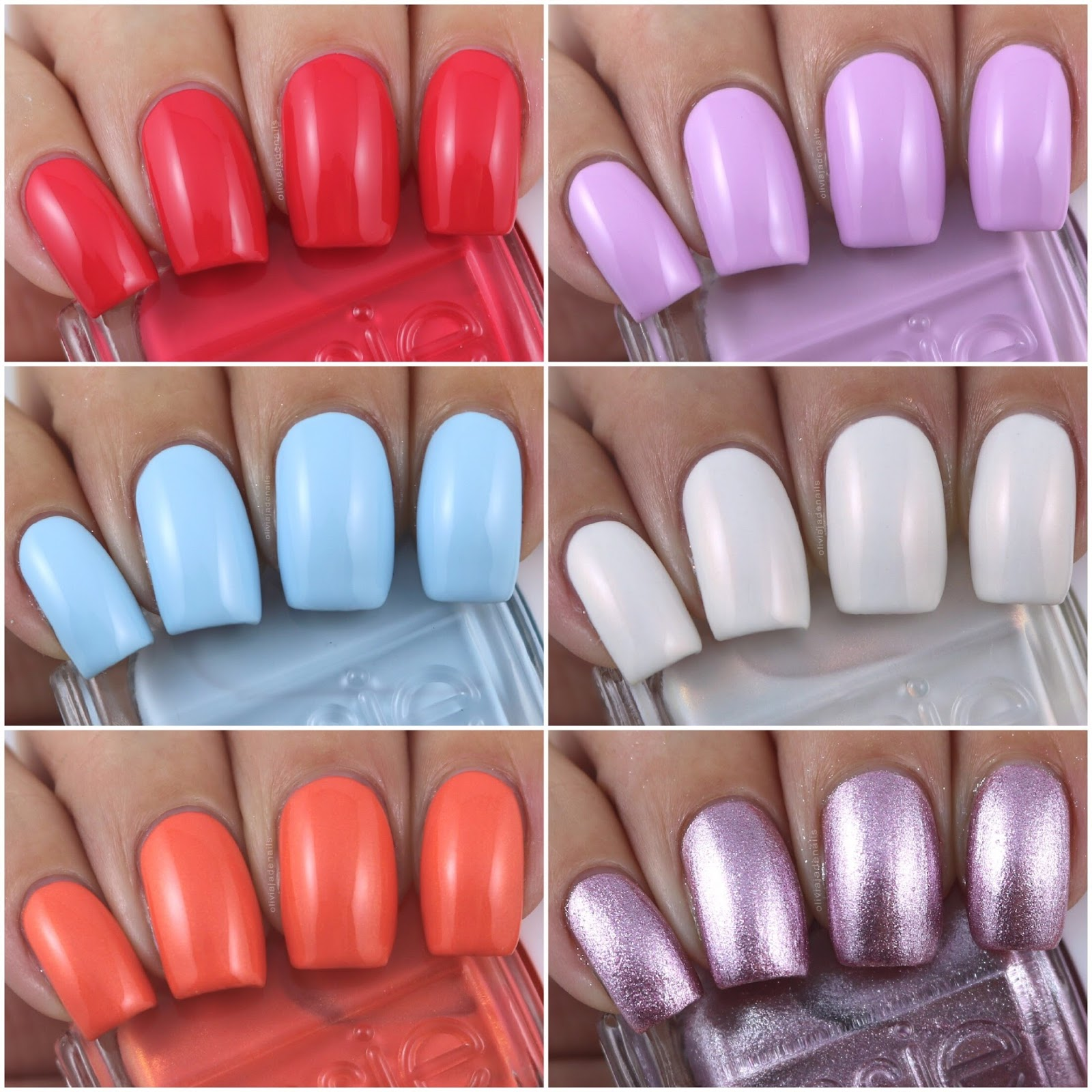 Olivia Jade Nails: Essie Summer 2017 Collection - Swatches & Review