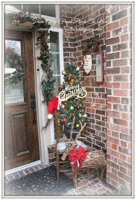 Christmas Porch- inspiration- Vintage Inspired-From My Front Porch To Yours
