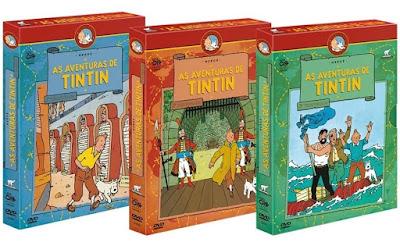 Série - As Aventuras de Tintim Completo DVD Capa
