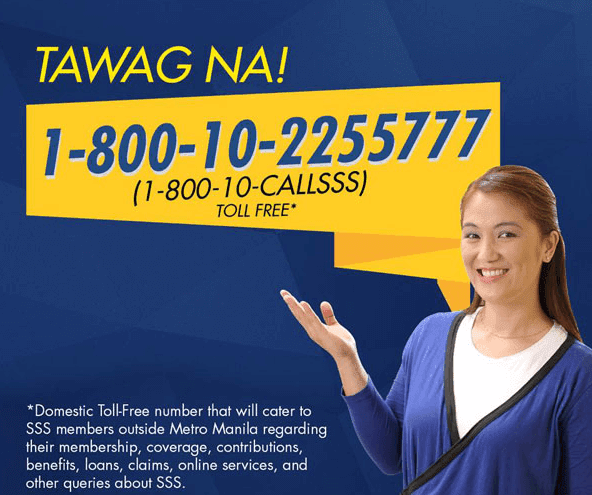 SSS Service Hotline Numbers 24-Hour Call Center