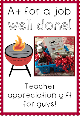 man teacher appreciation gift, what to get for male teachers, principal gift, teacher appreciation gifts, grilling teacher appreciation gift, job well done gift, $10 teacher appreciation ideas