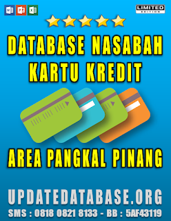 Jual Database Nasabah Kartu Kredit Pangkal Pinang