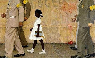 Painting, The Problem We All Live With, by Norman Rockwell created January 14, 1964.   Norman Rockwell Museum, Stockbridge, MA
