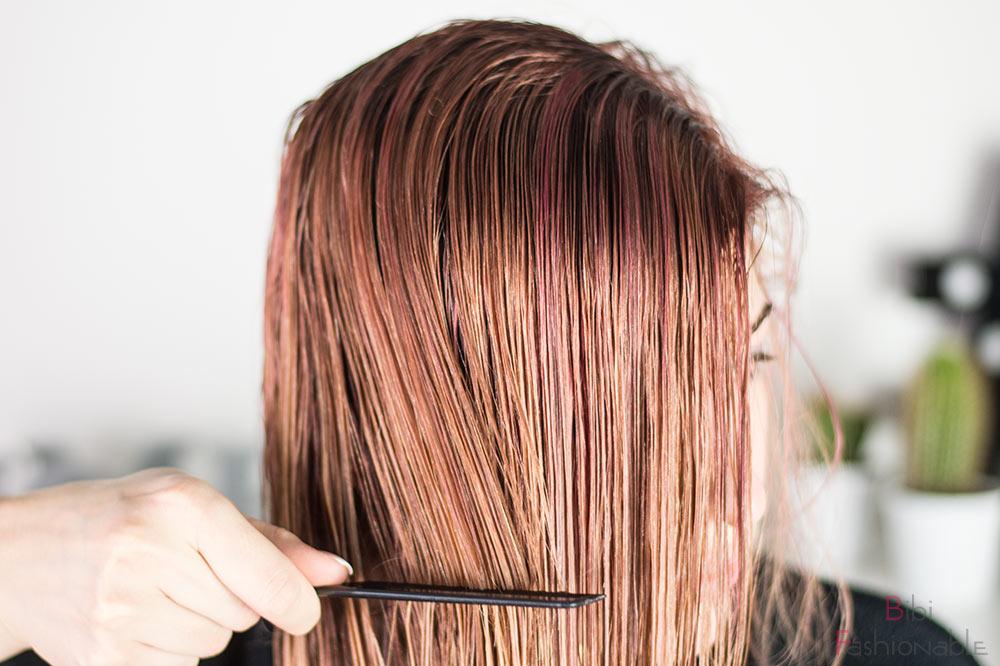 Alarmstufe dustedRouge Schwarzkopf Professional Haare nass