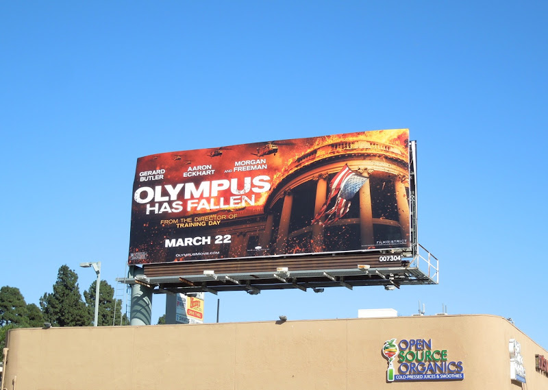 Olympus Has Fallen movie billboard