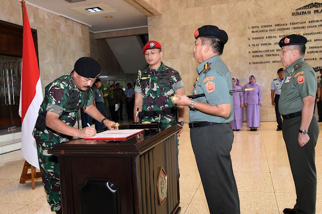 Panglima TNI Pimpin Sertijab Dandenma Mabes TNI