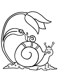 Printable Snail Coloring Pages Animals For Kids