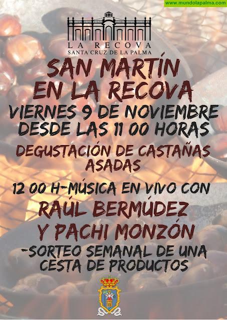 La Recova de Santa Cruz de La Palma celebra la festividad de San Martín con una jornada de música y castañas asadas