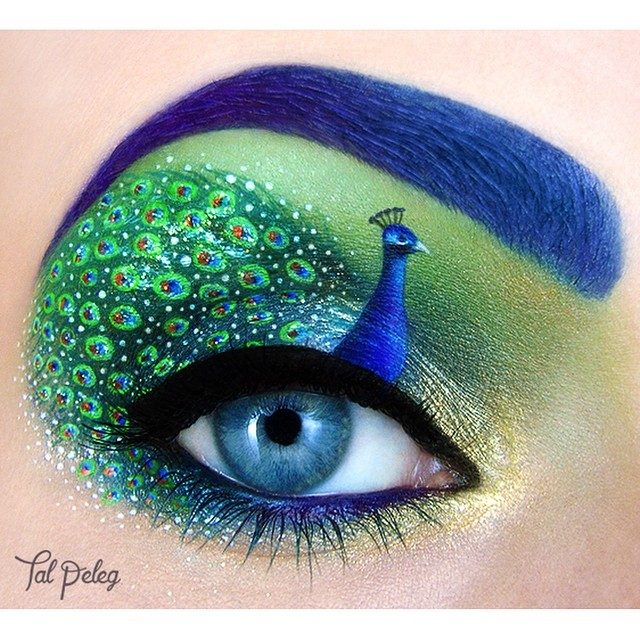 19-Peacock-Tal-Peleg-Body-Painting-and-Eye-Make-Up-Art-www-designstack-co